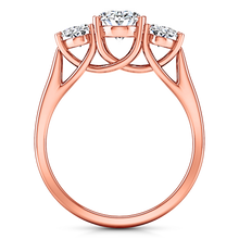 Load image into Gallery viewer, Three Stone Engagement Ring Arabella