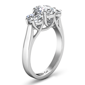 Three Stone Engagement Ring Arabella
