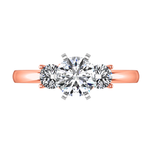 Load image into Gallery viewer, Three Stone Engagement Ring Talia