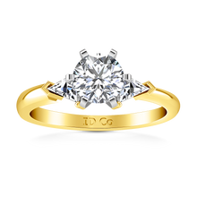 Load image into Gallery viewer, Three Stone Engagement Ring Miranda