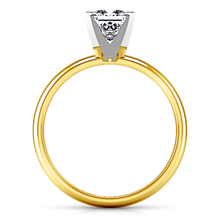 Load image into Gallery viewer, Solitaire Princess Cut Engagement Ring Comfort Fit