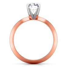 Load image into Gallery viewer, Solitaire Engagement Ring Knife Edge Round Diamond
