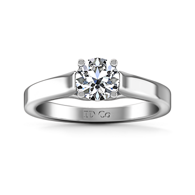 Solitaire Engagement Ring Lyric Modern Lattice