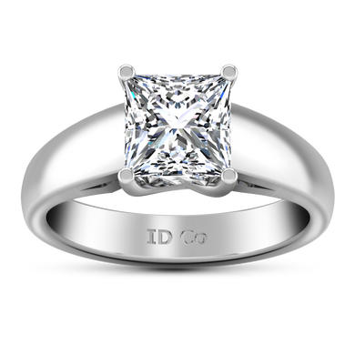 Solitaire Princess Cut Engagement Ring Leyla