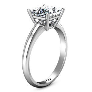 Solitaire Princess Cut Engagement Ring Cindy