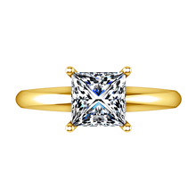 Load image into Gallery viewer, Solitaire Princess Cut Engagement Ring Cindy