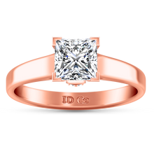 Load image into Gallery viewer, Solitaire Princess Cut Engagement Ring Holly