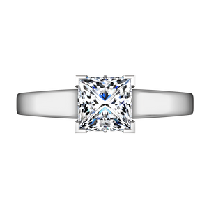 Solitaire Princess Cut Engagement Ring Holly