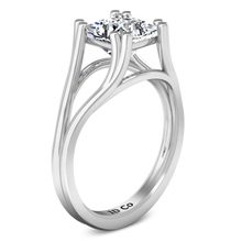 Load image into Gallery viewer, Solitaire Princess Cut Engagement Ring Bella