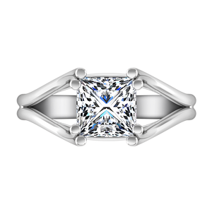Solitaire Princess Cut Engagement Ring Bella