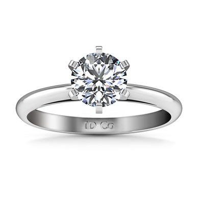 Solitaire Engagement Ring Cathedral 6 Prong