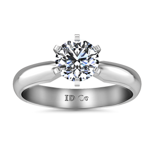 Solitaire Engagement Ring Wide Classic 6 Prong