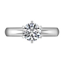 Load image into Gallery viewer, Solitaire Engagement Ring Wide Classic 6 Prong