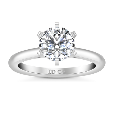 Solitaire Engagement Ring Petite Cathedral