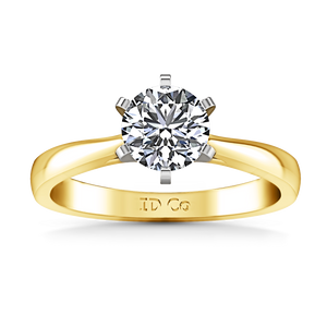 Solitaire Engagement Ring Tapered And Arched