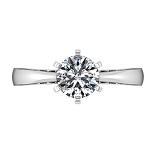 Load image into Gallery viewer, Solitaire Engagement Ring Tapered And Arched