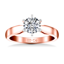 Load image into Gallery viewer, Solitaire Engagement Ring Wide Tappered