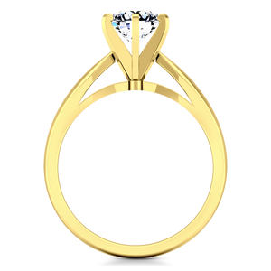 Solitaire Engagement Ring Wide Tappered