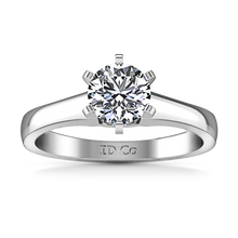Load image into Gallery viewer, Solitaire Engagement Ring Stylized 6 Prong