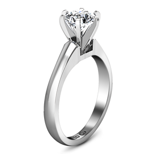 Solitaire Engagement Ring Stylized 6 Prong