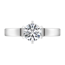 Load image into Gallery viewer, Solitaire Engagement Ring Modern