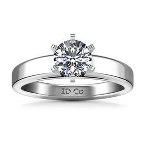 Solitaire Engagement Ring 6 Prong Contemporary