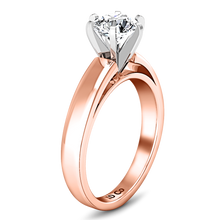 Load image into Gallery viewer, Solitaire Engagement Ring 6 Prong Contemporary