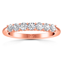 Load image into Gallery viewer, Seven Stone Diamond Wedding Band Camden