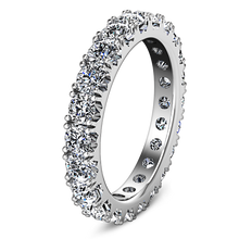 Load image into Gallery viewer, Eternity Ring Natasha 1.6 Cts 14K White Gold