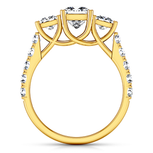 Load image into Gallery viewer, Three Stone Engagement Ring Enchantment Lattice