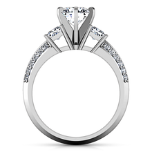 Load image into Gallery viewer, Three Stone Engagement Ring Ivana