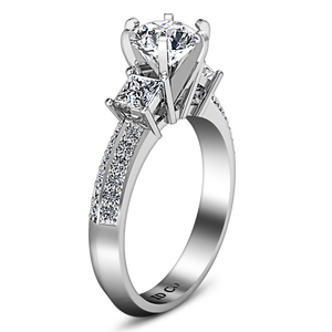 Three Stone Engagement Ring Ivana