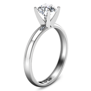 Solitaire Engagement Ring Comfort Fit Round
