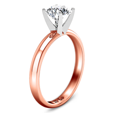 Load image into Gallery viewer, Solitaire Engagement Ring Comfort Fit Round