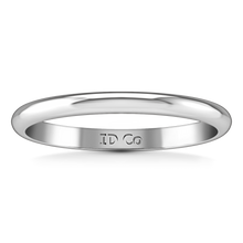 Load image into Gallery viewer, Wedding Band Comfort Fit 2Mm 14K White Gold