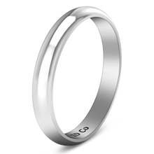 Load image into Gallery viewer, Wedding Band Comfort Fit 3Mm 14K White Gold