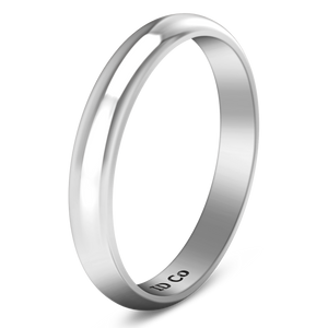Wedding Band Comfort Fit 3Mm 14K White Gold