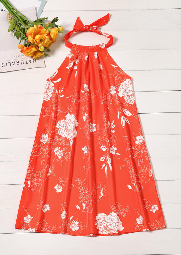 Floral Sleeveless Mini Dress
