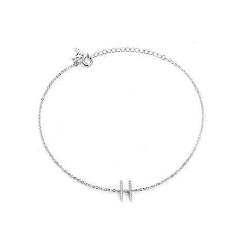 Your Initial H Fashion Anklet