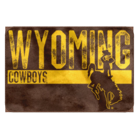 "Wyoming OFFICIAL Collegiate ""Worn Out"" Memory Foam Rug"