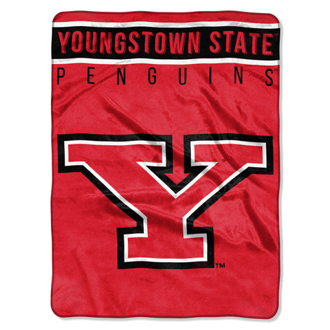 "Youngstown St OFFICIAL Collegiate ""Basic"" Raschel Throw"