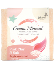 Load image into Gallery viewer, Pink Clay & Salt - Ocean Mineral Infused Soap