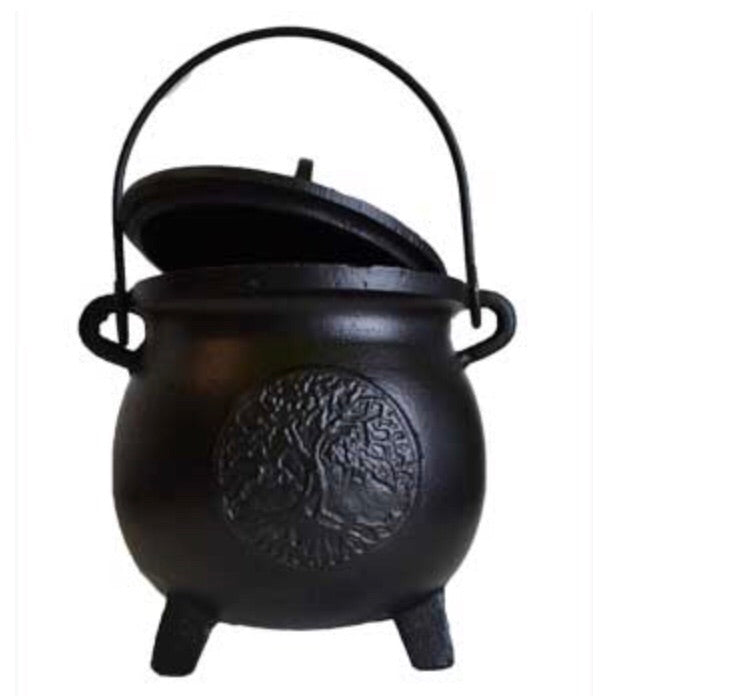 "8"" Tree of Life Cast Iron Cauldron"