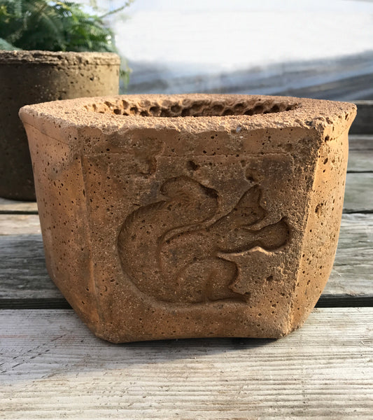 Hexagonal Bandit Squirrel Planter
