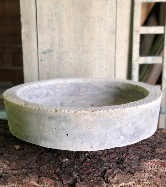 Tapered Low Planter - Charcoal