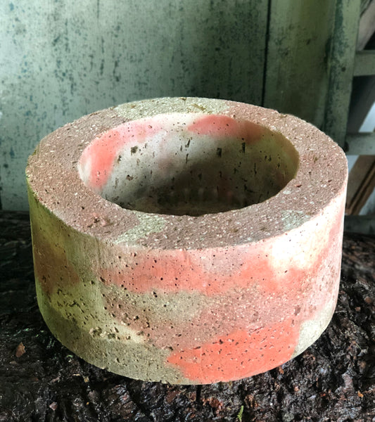Medium Cylinder Planter - Marbled Reds