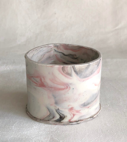 Mini Oval Vessel / Marbled & Mushroom