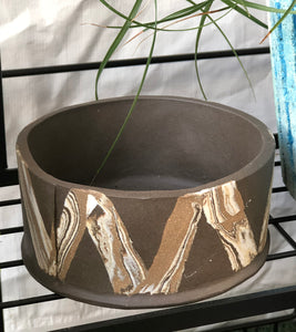 Faux Bois Lattice Low Vessel