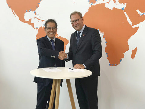 Furuno and Radio Holland prolong distributorship agreements at SMM 2018