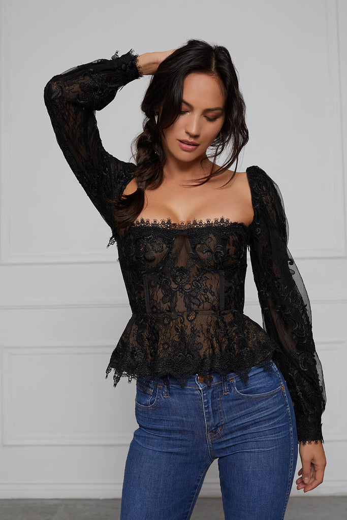 The Zinnia Top in Black